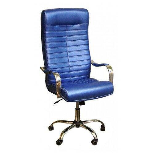 Компьютерное кресло Креслов Орион КВ-07-130112, обивка: искусственная кожа, цвет: голубой кресло компьютерное креслов орман кв 08 130112 0453