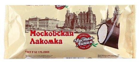 Мороженое Чистая Линия пломбир Московская лакомка ваниль 80 г