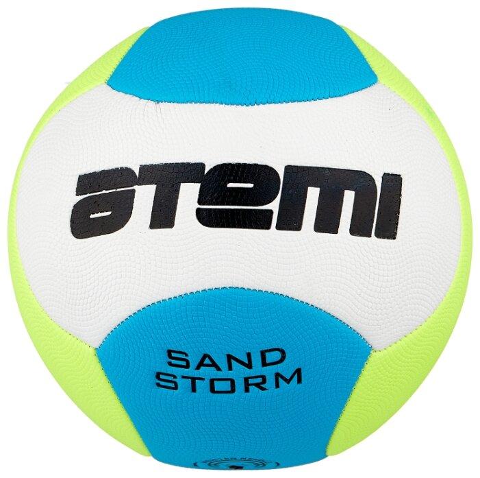 Футбольный мяч ATEMI SAND STORM 00-00002258 желтый/голубой/белый 5