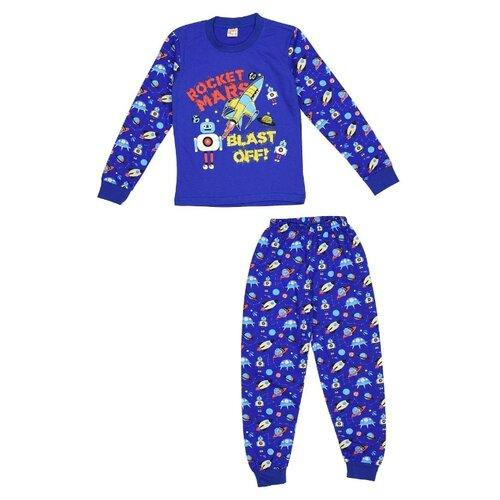 Купить Пижама MisterBanana размер 128-134, синий, Домашняя одежда