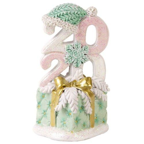 Фото - Фигурка Феникс Present Стеганный новый год 8,5 см розовый/зеленый фигурка феникс present дедушка мороз 26 см белый голубой красный