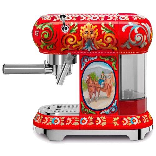 Кофеварка рожковая smeg ECF01DGEU красный