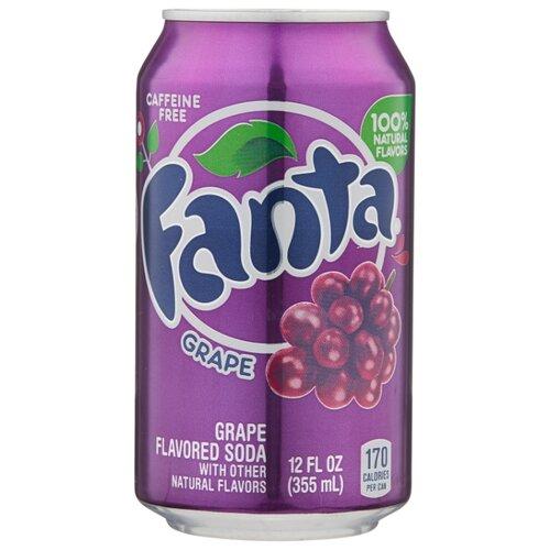 Газированный напиток Fanta Grape, США, 0.355 л val de france напиток газированный яблоко 0 75 л