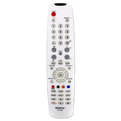 Фото - Пульт ДУ Huayu RM-766W для телевизоров Samsung серый пульт ду huayu rm 836c для для телевизоров philips rc1205b 30063555 rc0770 rc19036002 rc19036001 rc19042001 серый