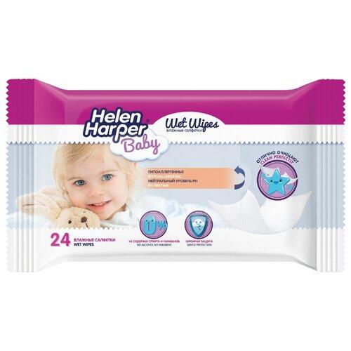 Влажные салфетки Helen Harper Baby 24 шт. салфетки влажные smile baby new born 24 шт