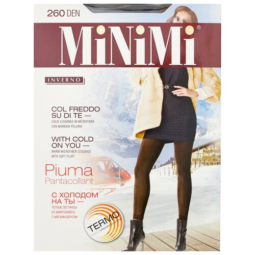 Леггинсы MiNiMi Pantacollant Piuma 260 den, размер 4-L, nero (черный)