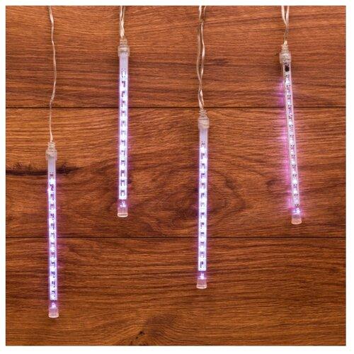 Гирлянда NEON-NIGHT Тающие сосульки, 4х14 LED, 20 см, 4 ламп, белый/прозрачный провод гирлянда neon night колокольчики 20 led 280 см 20 ламп разноцветный зеленый провод