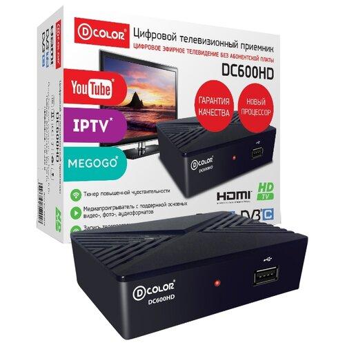 TV-тюнер D-COLOR DC600HD черный