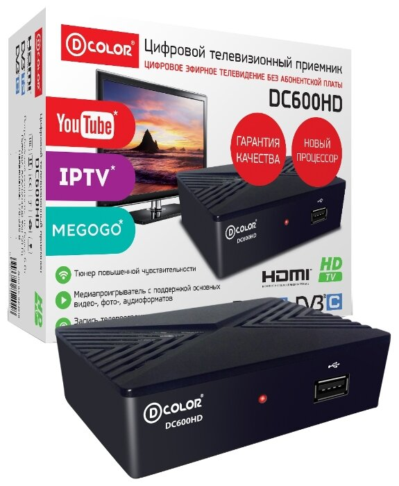 TV-тюнер D-COLOR DC600HD