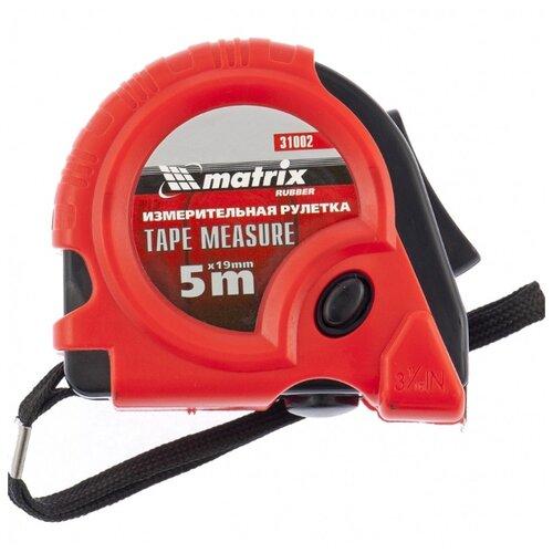 Измерительная рулетка matrix Rubber 31002 19 мм x 5 м рулетка matrix 31034 5мx19мм