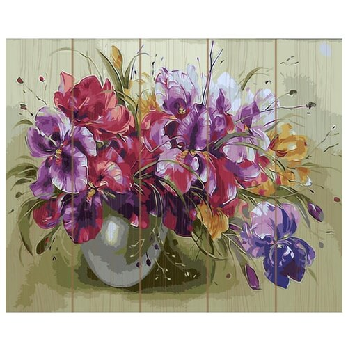 Купить Molly Картина по номерам Яркий букет 40х50 см (KD0704), Картины по номерам и контурам