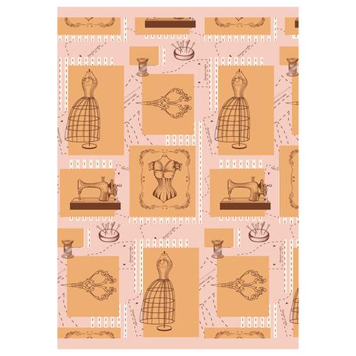 Купить Ткань PePPY ВЕК МОДЫ для пэчворка панель фасовка 60 x 110 см 146±5 г/кв.м ВМ-02 розовый, Ткани