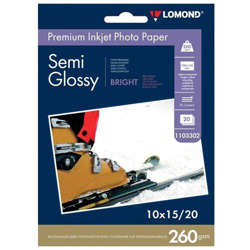 Бумага Lomond A6 Premium Photo Paper 1103302 260 г/м² 20 лист. ярко-белый 1 шт.