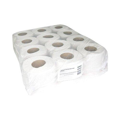 Купить Туалетная бумага Окская серая однослойная 44 м, 12 рул.