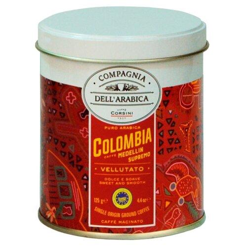 Фото - Кофе молотый Compagnia Dell'Arabica Colombia Medellin Supremo, жестяная банка, 125 г кофе молотый compagnia dell arabica brasil santos 125 г