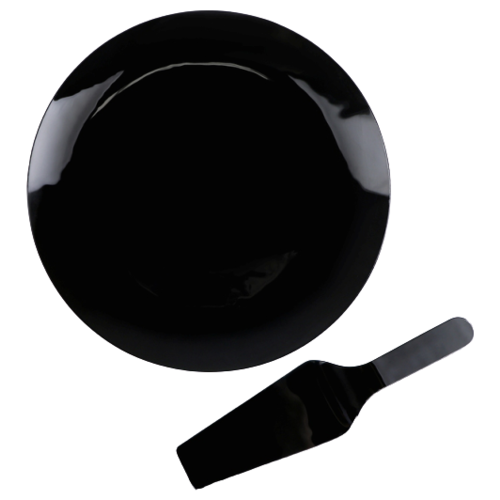 Доляна Блюдо с лопаткой Блэк 30 см черный