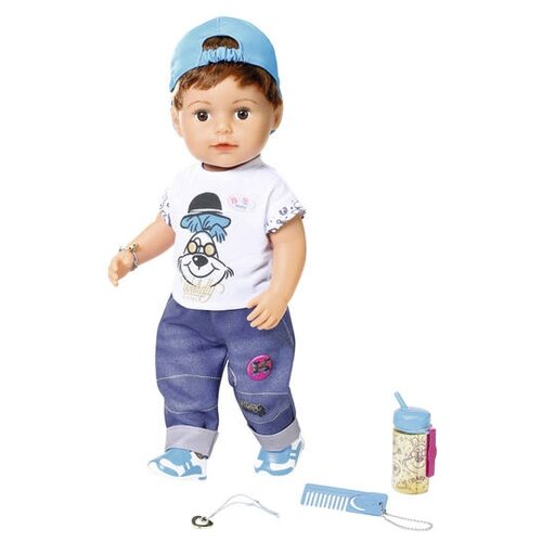 Купить Интерактивная кукла Zapf Creation Baby Born Модный братик, 43 см, 826-911, Куклы и пупсы