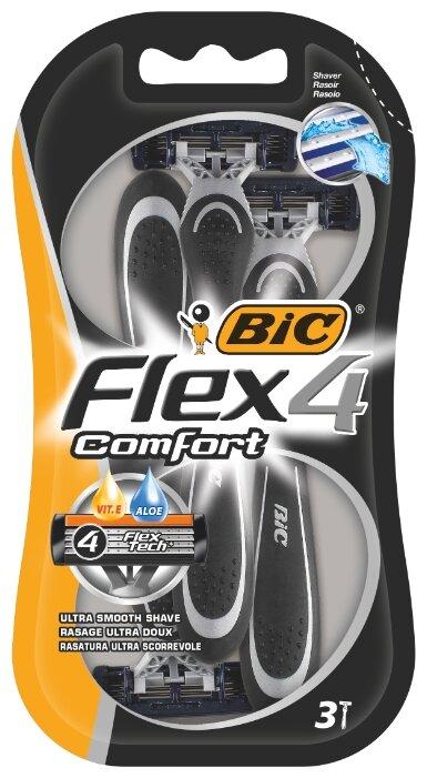 Бритвенный станок Bic Flex 4 Comfort — купить по выгодной цене на Яндекс.Маркете