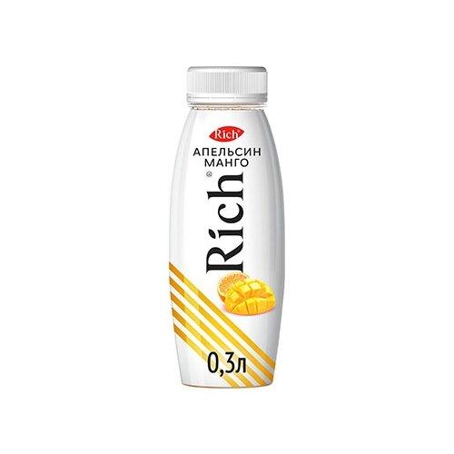 Нектар Rich Апельсин-Манго, в пластиковой бутылке, 0.3 л нектар rich апельсин манго 1 л