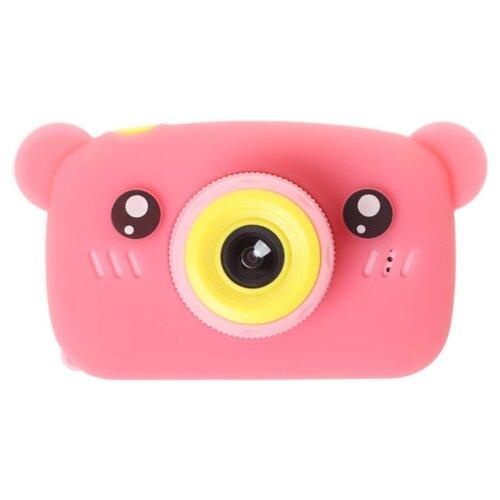 Фото - Фотоаппарат GSMIN Fun Camera Bear со встроенной памятью и играми розовый фотоаппарат
