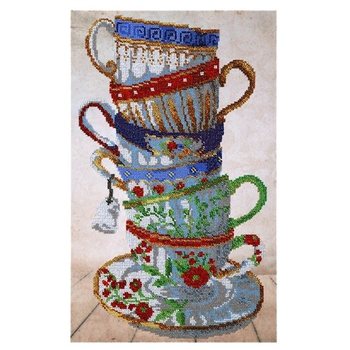Купить Hobby & Pro Набор для вышивания бисером Чайный сервиз 25 х 40см (БН-3400), Наборы для вышивания