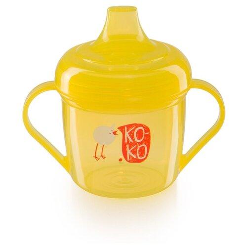 Поильник-непроливайка Happy Baby 14001, 170 мл lemon, Поильники  - купить со скидкой
