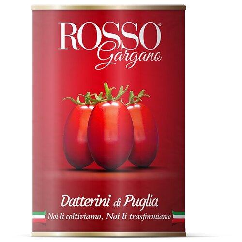 цена Томаты Даттерини целые в собственном соку Rosso Gargano жестяная банка 400 г онлайн в 2017 году