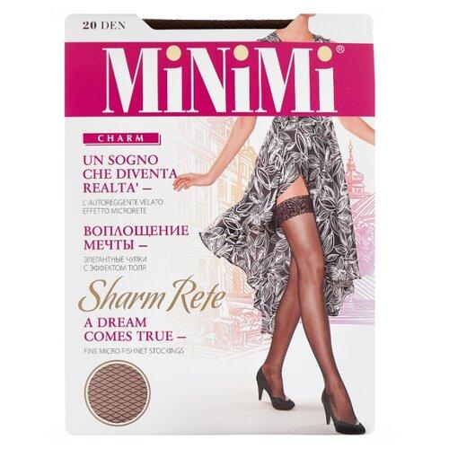 цена Чулки MiNiMi Sharm Rete 20 den, размер 2-S/M, cappuccino (коричневый) онлайн в 2017 году