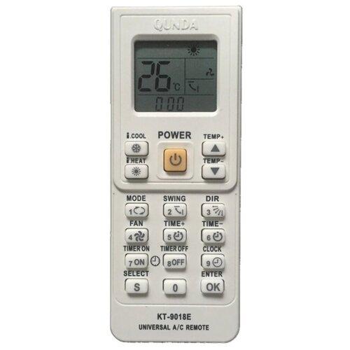 Пульт ДУ Qunda KT-9018E для кондиционера белый