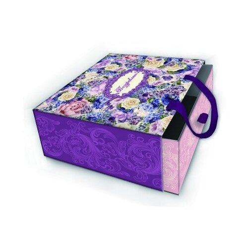 Коробка подарочная Лиловые букеты