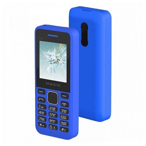 Телефон MAXVI C20 синий сотовый телефон maxvi c20 white