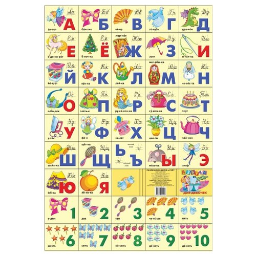Купить Азбука русская + счет. Для девочек, Литур, Учебные пособия