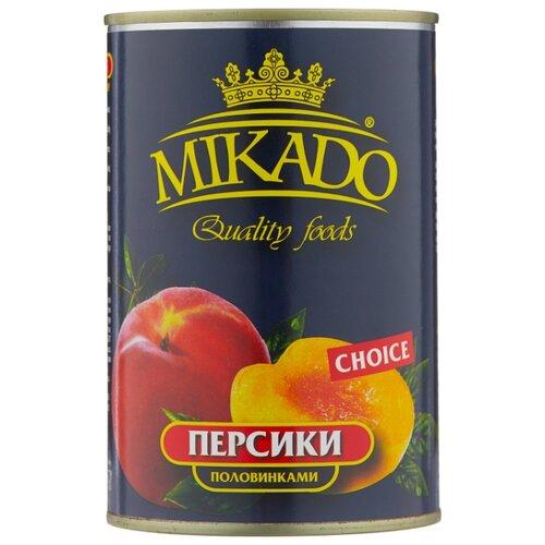 Mikado Персики половинками в сиропе 425 мл бомбарда mikado медленно тонущая smtc 24