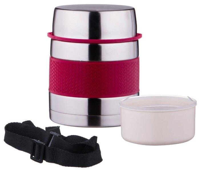 Термос для еды Agness с пластиковым контейнером (1 л)