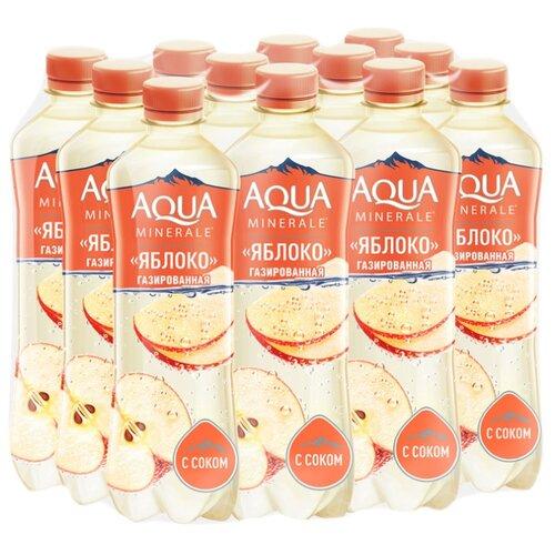 Вода питьевая Аква Минерале газированная с соком Яблоко, ПЭТ, 12 шт. по 0.5 лВода<br>