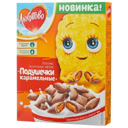 Готовый завтрак Любятово Подушечки карамельные, коробка, 250 г