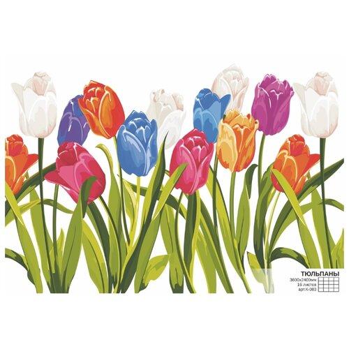 Фотообои бумажные Симфония Тюльпаны К-083 3.6х2.4м разноцветный фотообои postermarket балийские узоры 368 x 254 см