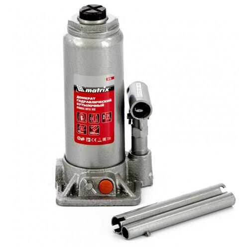 Домкрат бутылочный гидравлический matrix 50765 (6 т) стальной