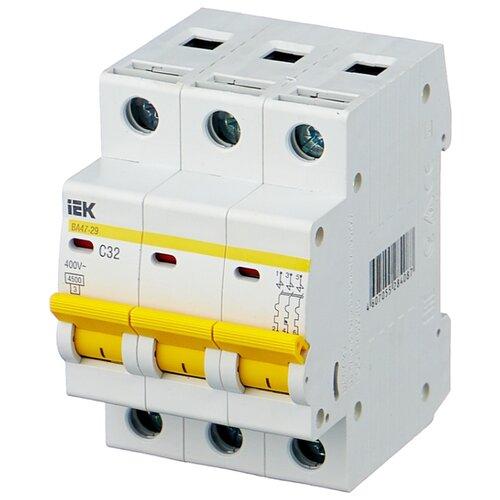 Автоматический выключатель IEK ВА 47-29 3P (C) 4,5kA 32 А автомат iek 1п c 16а ва 47 100