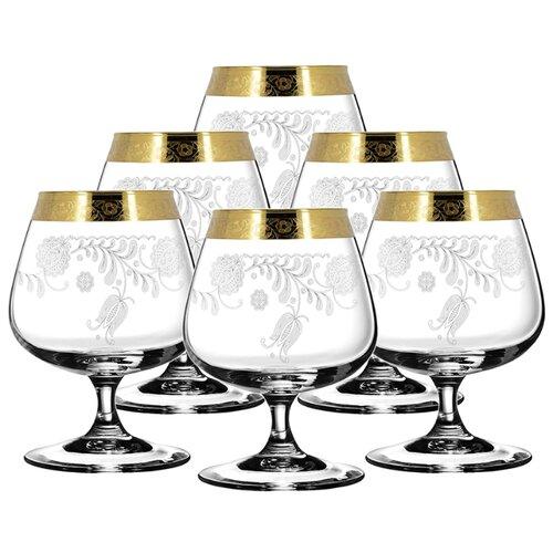 ГУСЬ-ХРУСТАЛЬНЫЙ Набор бокалов для бренди Эдем с рисунком Нежность TAV34-1812 6 шт 410 мл прозрачный гусь хрустальный набор бокалов для бренди лоза tav116 1812 6 шт прозрачный золотой