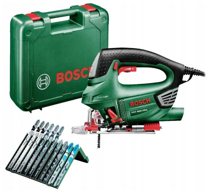 Электролобзик BOSCH PST 900 PEL + 10 пилок