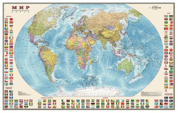 DMB Политическая карта Мира с флагами 1:30 (377)