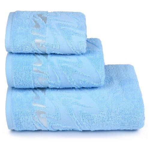 Полотенце махровое ДМ-Люкс Brilliance70x130см. цвет: голубой