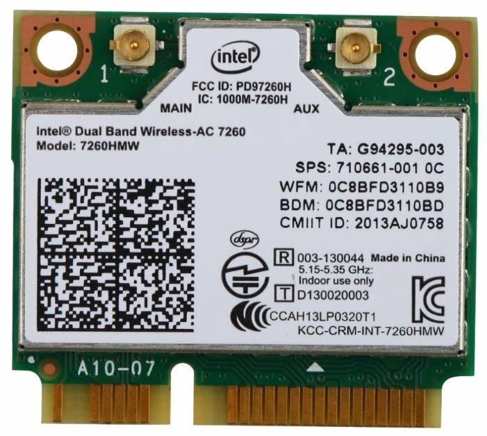 Wireless Dual Band Intel 7260HMW AN 300M Mini PCI-E Wifi Bluetooth BT 4.0 Card