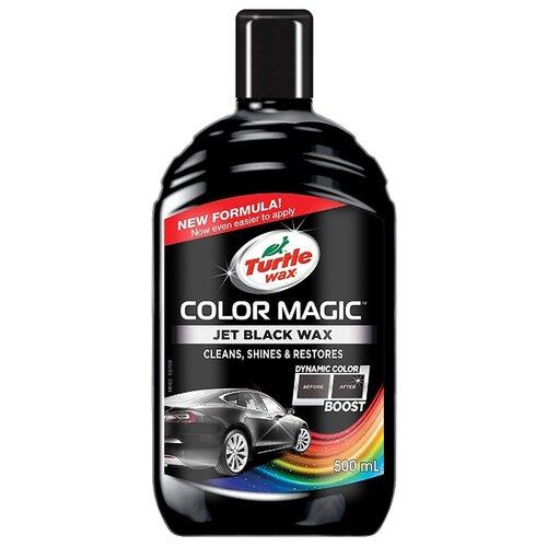 Воск для автомобиля TURTLE WAX полироль Color Magic Jet Black Wax 0.5 л автошампунь turtle wax essential zip wax 1л