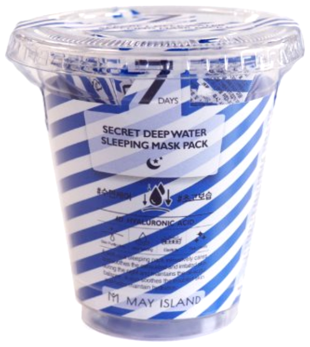 MAY ISLAND 7Days Secret Deep Water Sleeping Mask Pack ночная глубоко увлажняющая маска