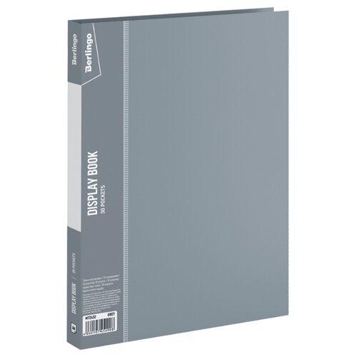 Купить Berlingo Папка с 30 вкладышами Standard, 17 мм, 600 мкм, пластик серый, Файлы и папки