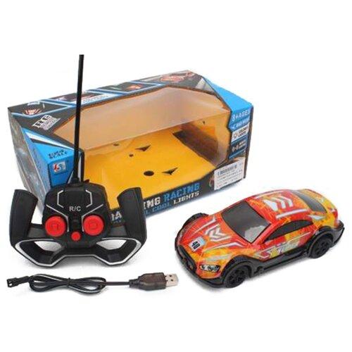 Купить Гоночная машина Наша игрушка 955-100 19 см оранжевый/черный, Радиоуправляемые игрушки