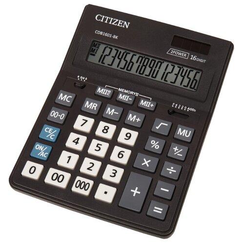 Калькулятор бухгалтерский CITIZEN CDB1601-BK черный
