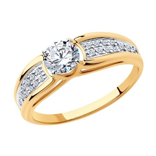 SOKOLOV Кольцо из золота с фианитами 018337, размер 18.5 фото
